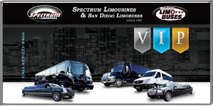 San Diego Limobuses - VIP Card - 50% Off- Spectrum Limousines - www.vipclubcard.com